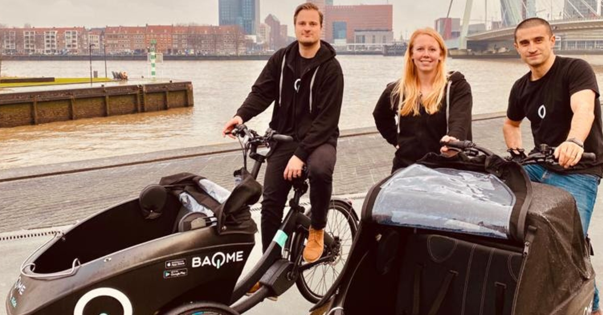 Amsterdam-based mobility startup BAQME launches its shared e-box bikes in Rotterdam