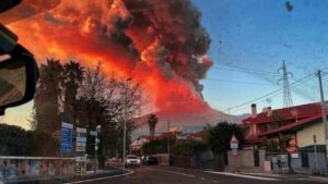 Sicilians 'not worried' that Mount Etna is erupting as they have 'seen worse'
