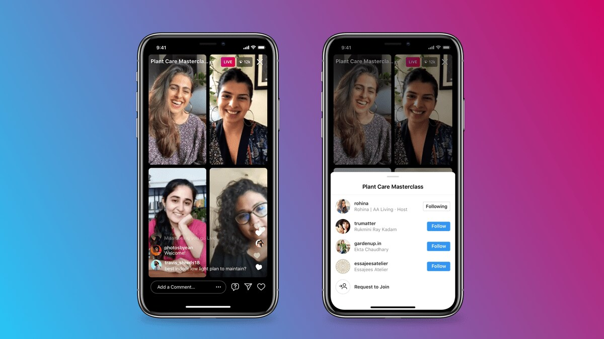 Instagram introduces Live Rooms that will let up to four users participate in a live session simultaneously- Technology News, FP
