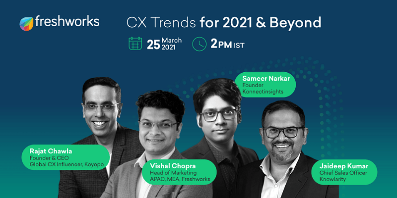 Decode the top consumer experience trends of 2021 at Freshworks' CX Trends for 2021 & Beyond