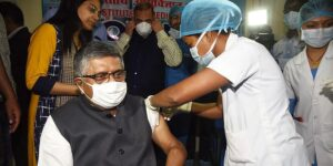 Union Minister Ravi Shankar Prasad gets first dose of COVID-19 vaccine, pays Rs 250