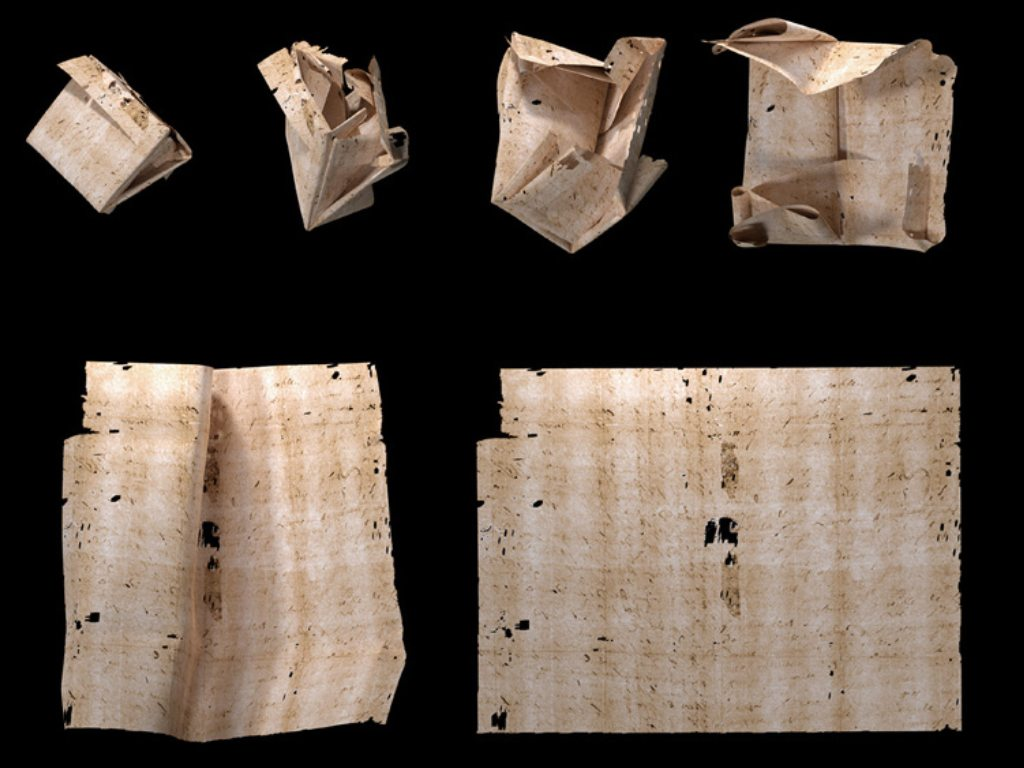 Four 300-year-old letters from the Brienne Collection is virtually unfolded, read- Technology News, FP