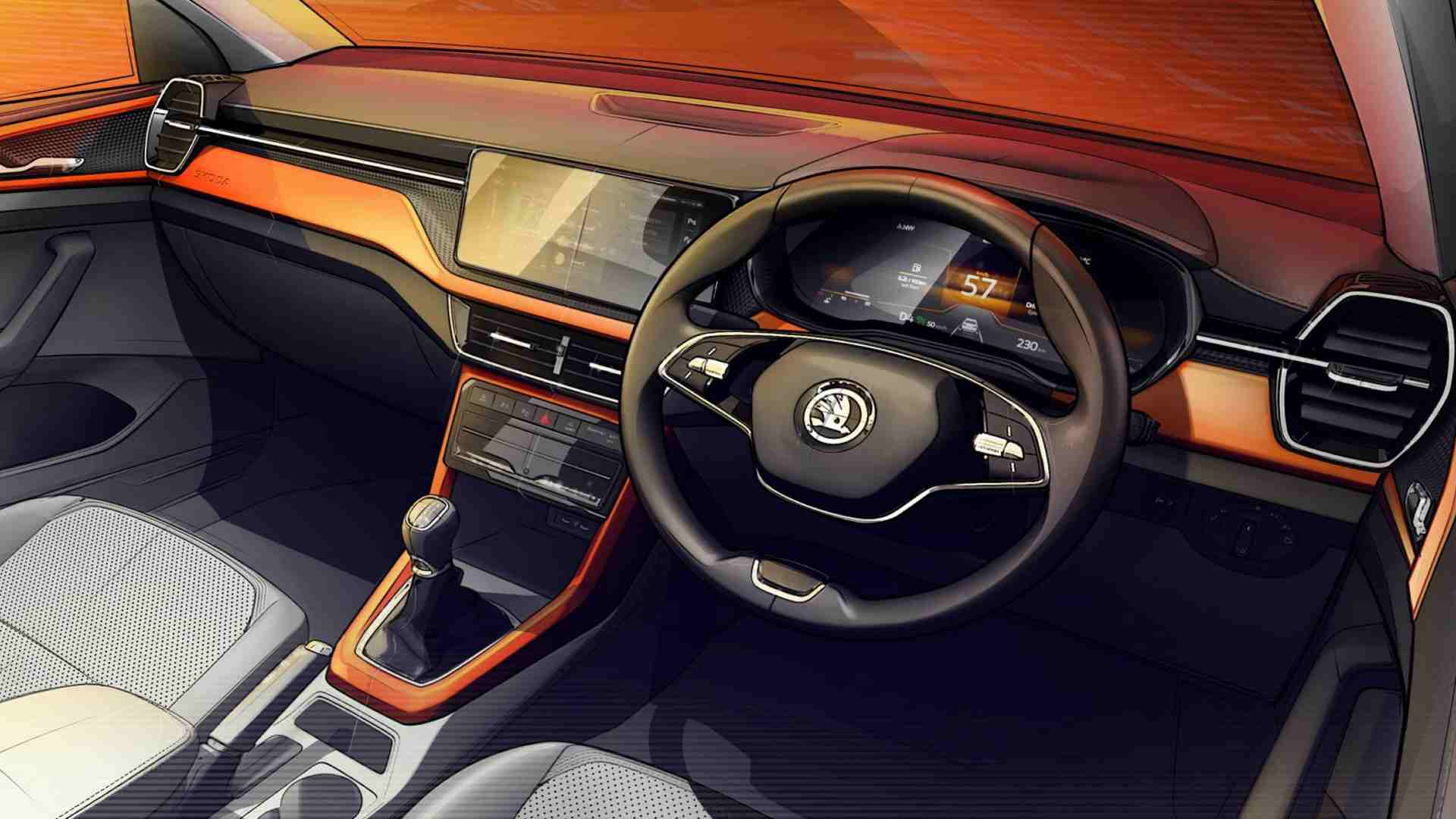 Skoda Kushaq interior previewed in design sketches, SUV to debut on 18 March- Technology News, FP