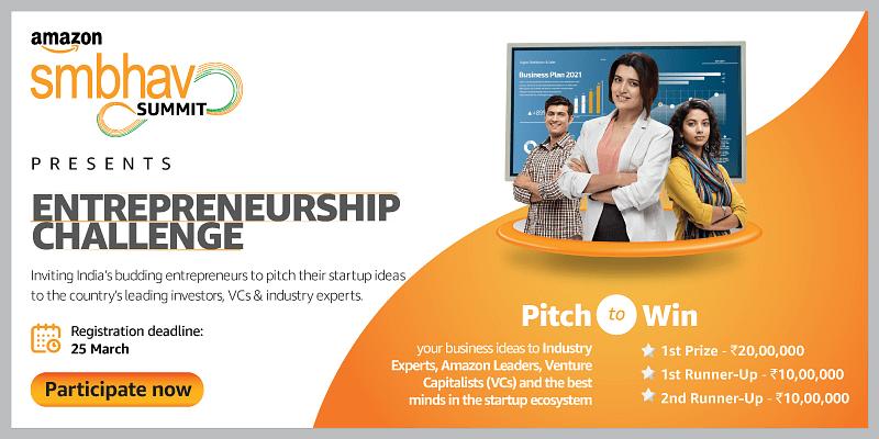 Think your startup can be India's next Unicorn? Apply to the Amazon Smbhav Entrepreneurship Challenge