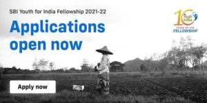 The SBI Youth for India Fellowship is inviting applications from young changemakers who wish to empower margin