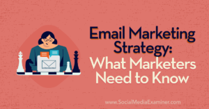 Email Marketing Strategy: What Marketers Need to Know : Social Media Examiner