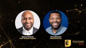Wonderschool's Chris Bennett and investor Marlon Nichols will break down the path to seed-stage funding – TechCrunch