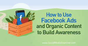 How to Use Facebook Ads and Organic Content to Build Awareness