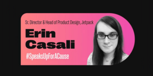 design strategy tips from Erin Casali, Jetpack, at Automattic