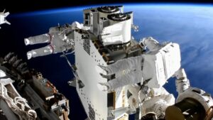 Two astronauts complete six-hour spacewalk to install solar panels on the ISS- Technology News, FP