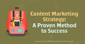 Content Marketing Strategy: A Proven Method to Success