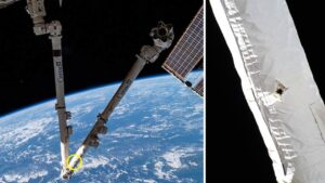 NASA, CSA find holes in the space station's Canadarm2 caused by orbital debris- Technology News, FP