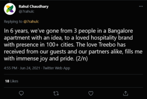 Treebo Cofounder Rahul Chaudhary Steps Down; Will Pursue Other Ideas