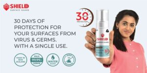 With a single use, this product provides 30-day protection for surfaces from viruses and germs