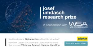 Formwork Leader Doka Calls for Ideas at the Josef Umdasch Research Prize 2022