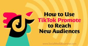 How to Use TikTok Promote to Reach New Audiences